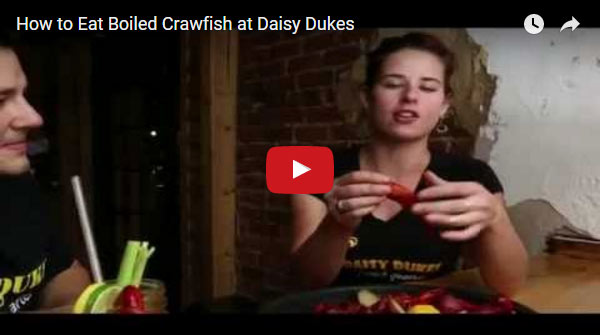 How to eat boiled crawfish at Daisy Dukes