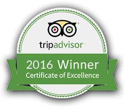 Trip Advisor Certificate of Excellence, 2015 Winner
